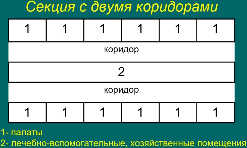 Секция с двумя коридорами